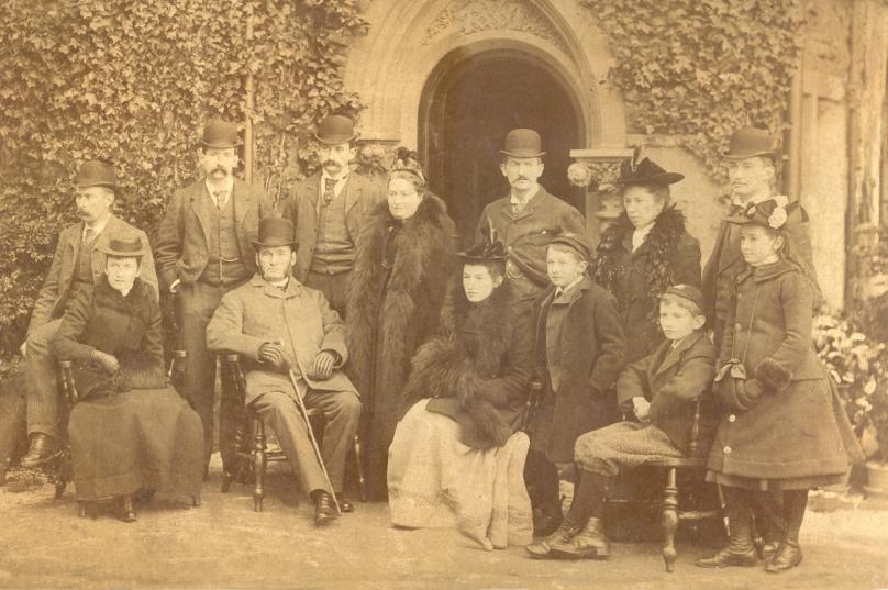 Bayley_Joseph&Sarah_photo_1893_Bayley Family portrait at St. Andrews Hospital